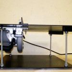 Циркулярный стол вид сбоку
