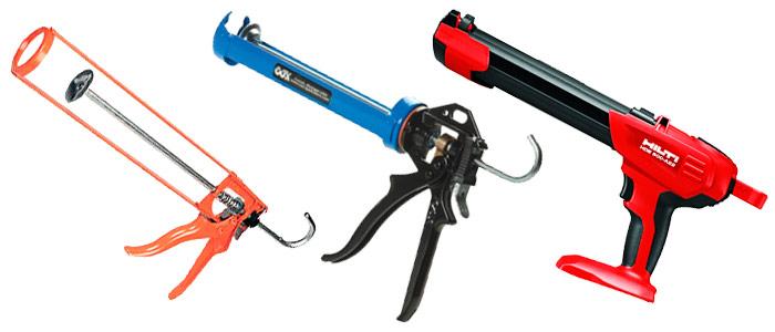 Строительные пистолеты для герметика