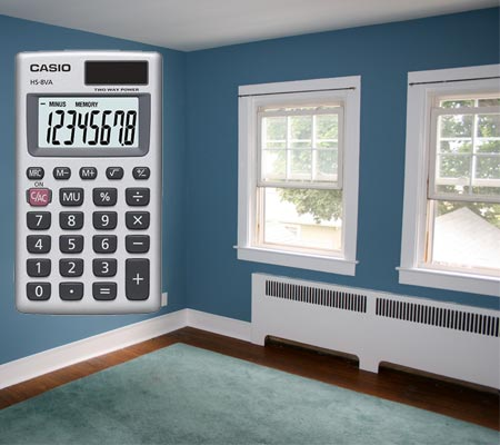 Фото калькулятора площади стен