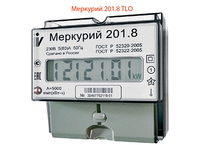 Фото счетчика электроэнергии Меркурий 201.8 TLO